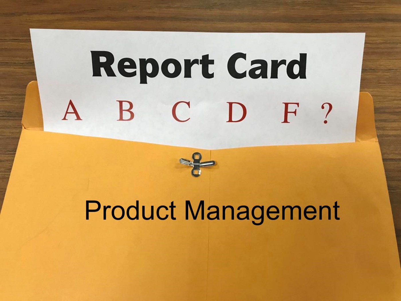 product management report card