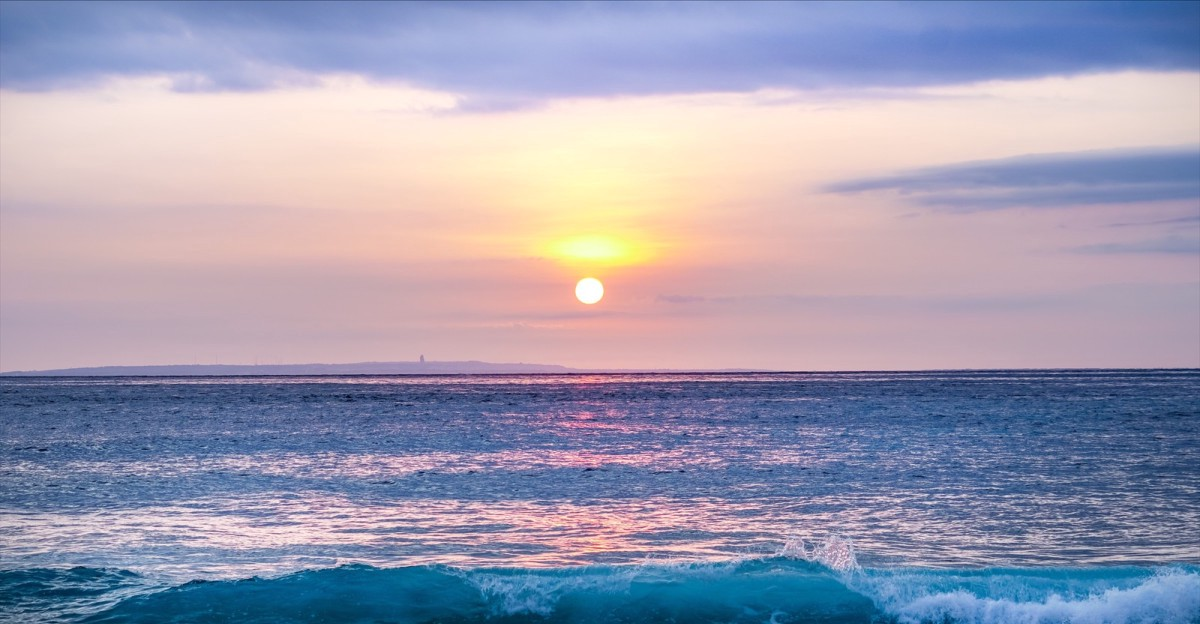 A sunset in Bali Indonesia