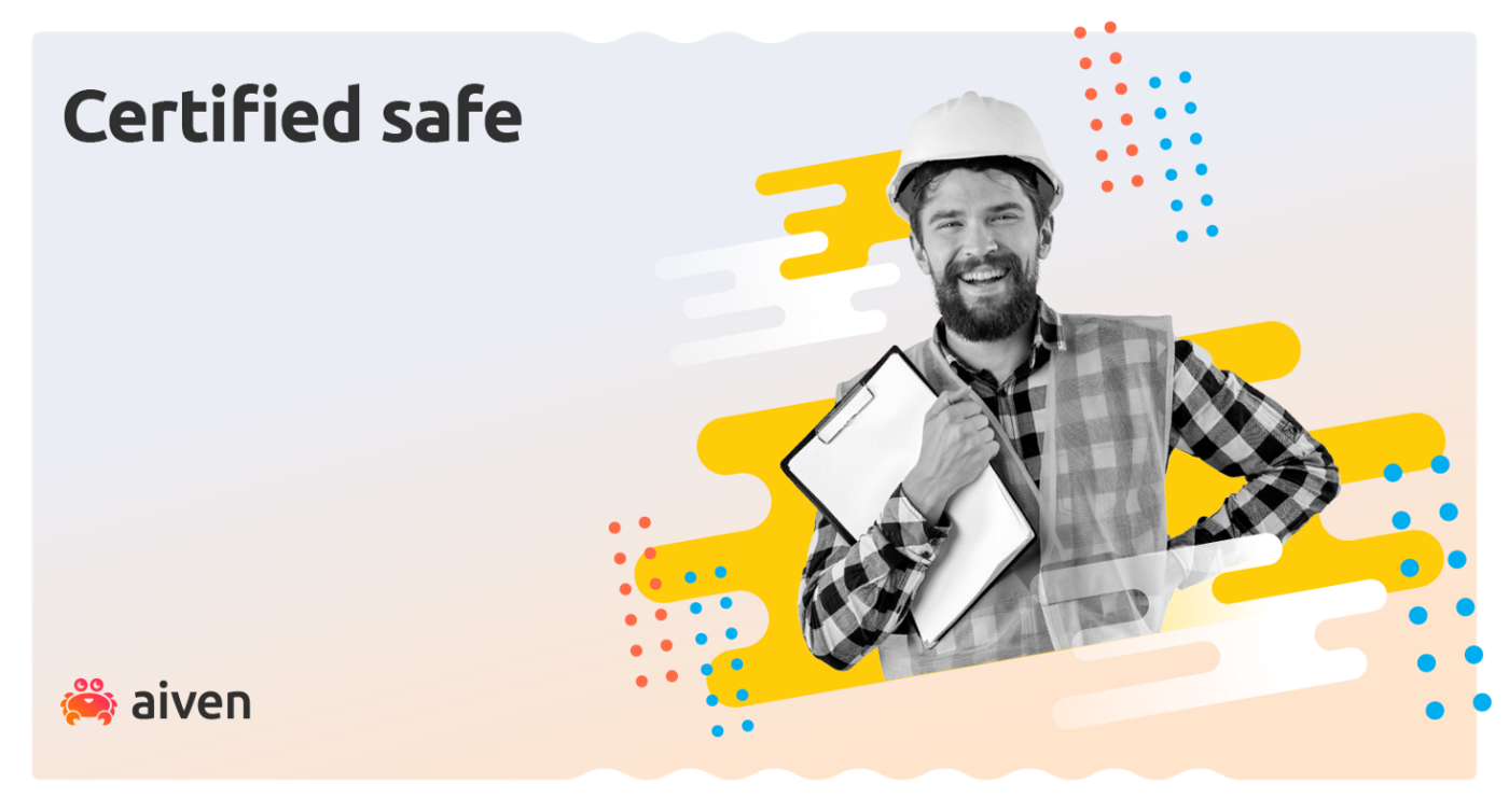A workman holding a data security compliance certificate