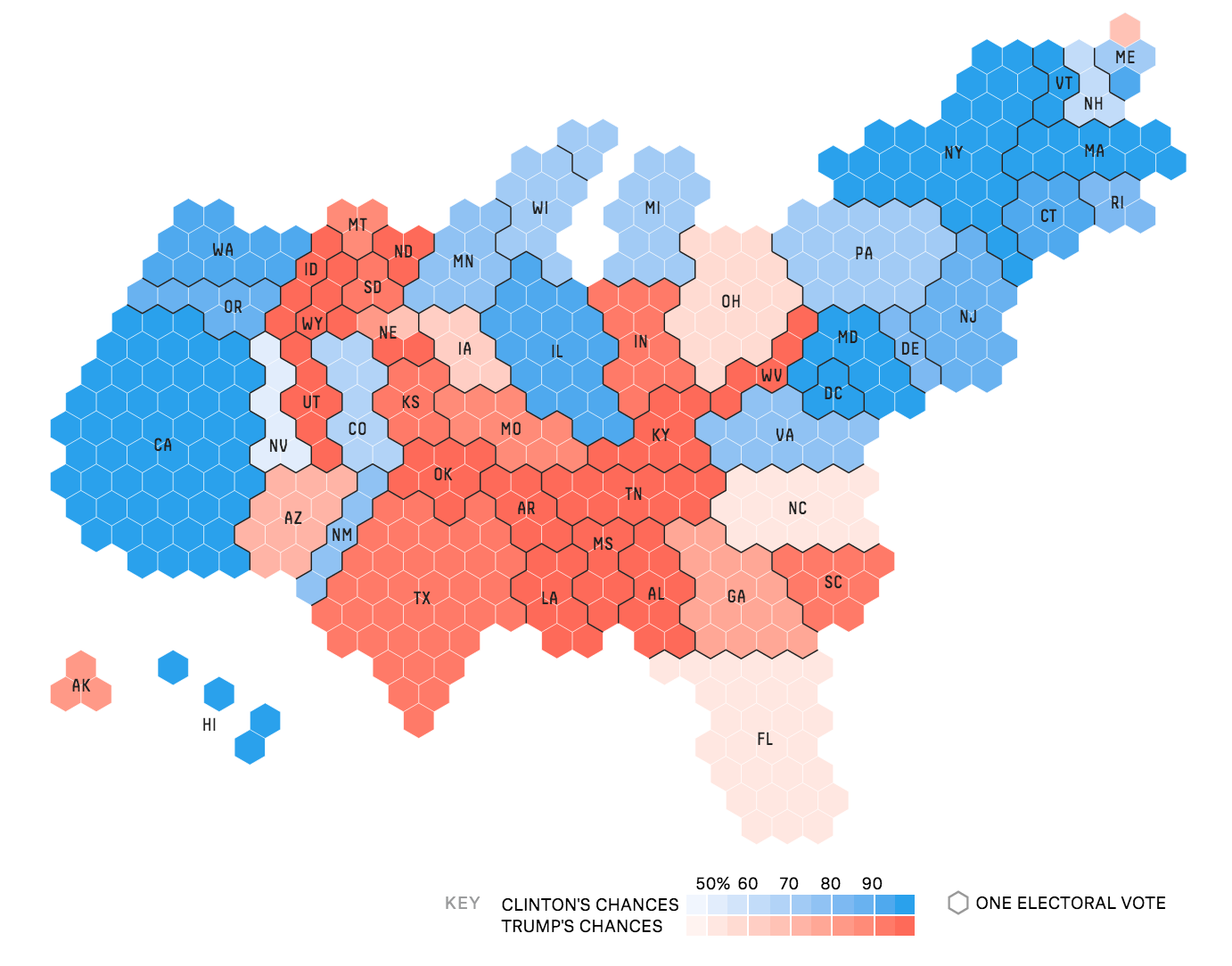 Tilegrams: Make your own cartogram hexmaps with our new tool