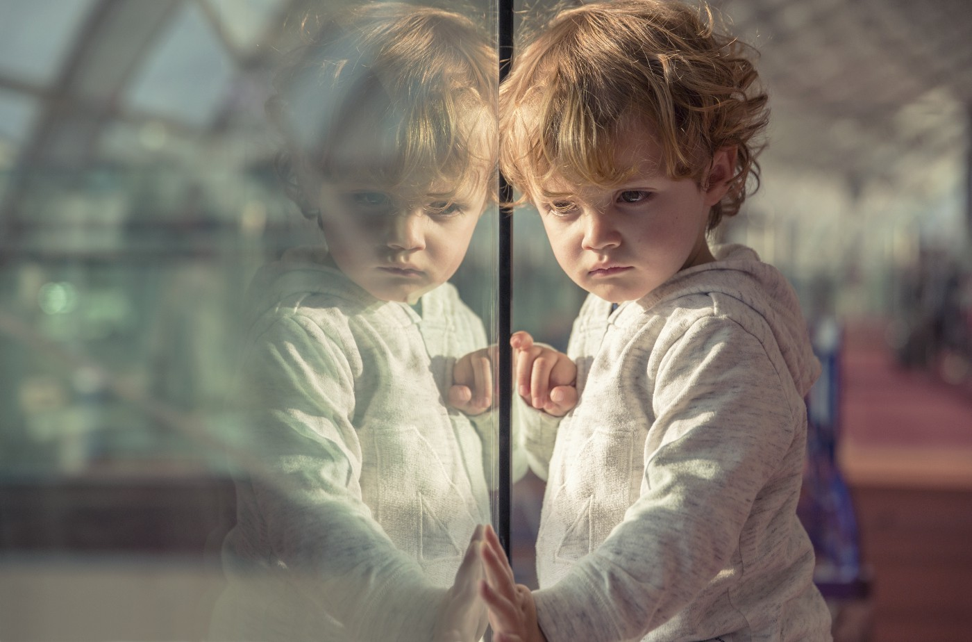Child thinking—pensively