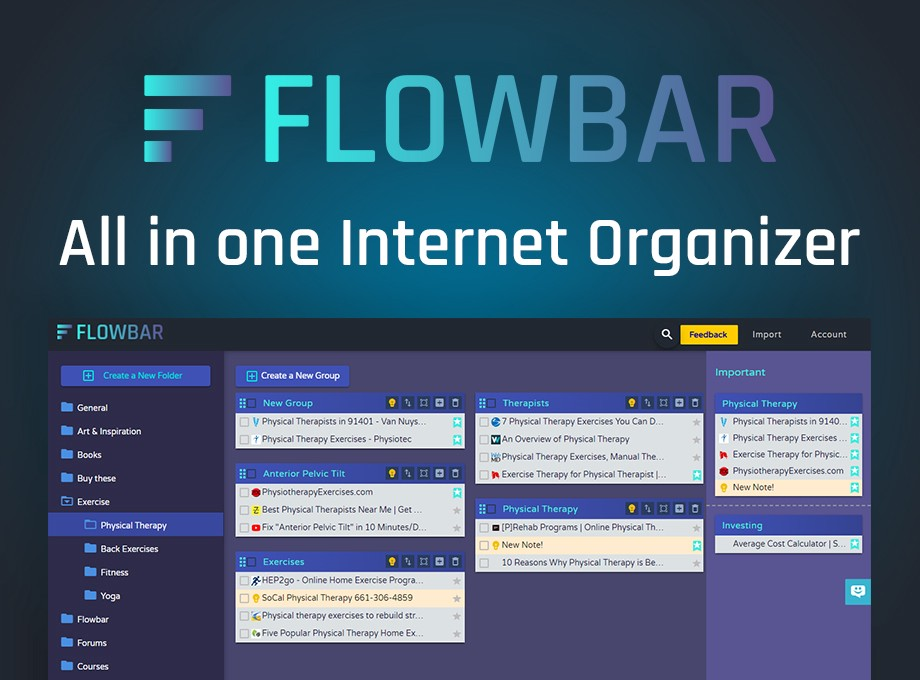 Flowbar Browser Tab Saves and management tool.