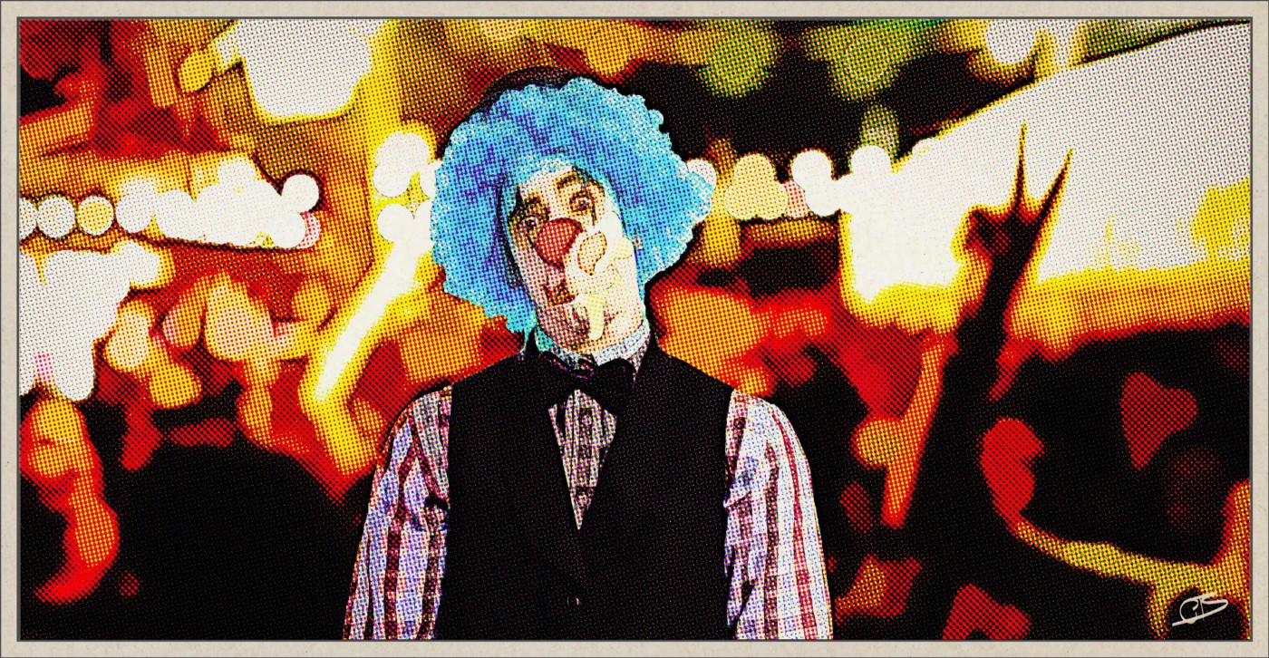 Clown with egg on face