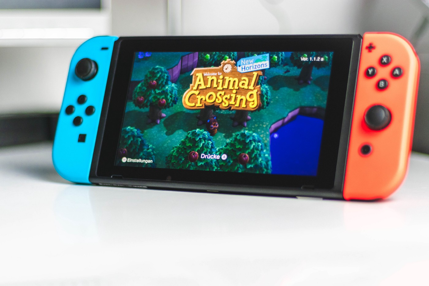 Nintendo Switch displaying Animal Crossing: New Horizons