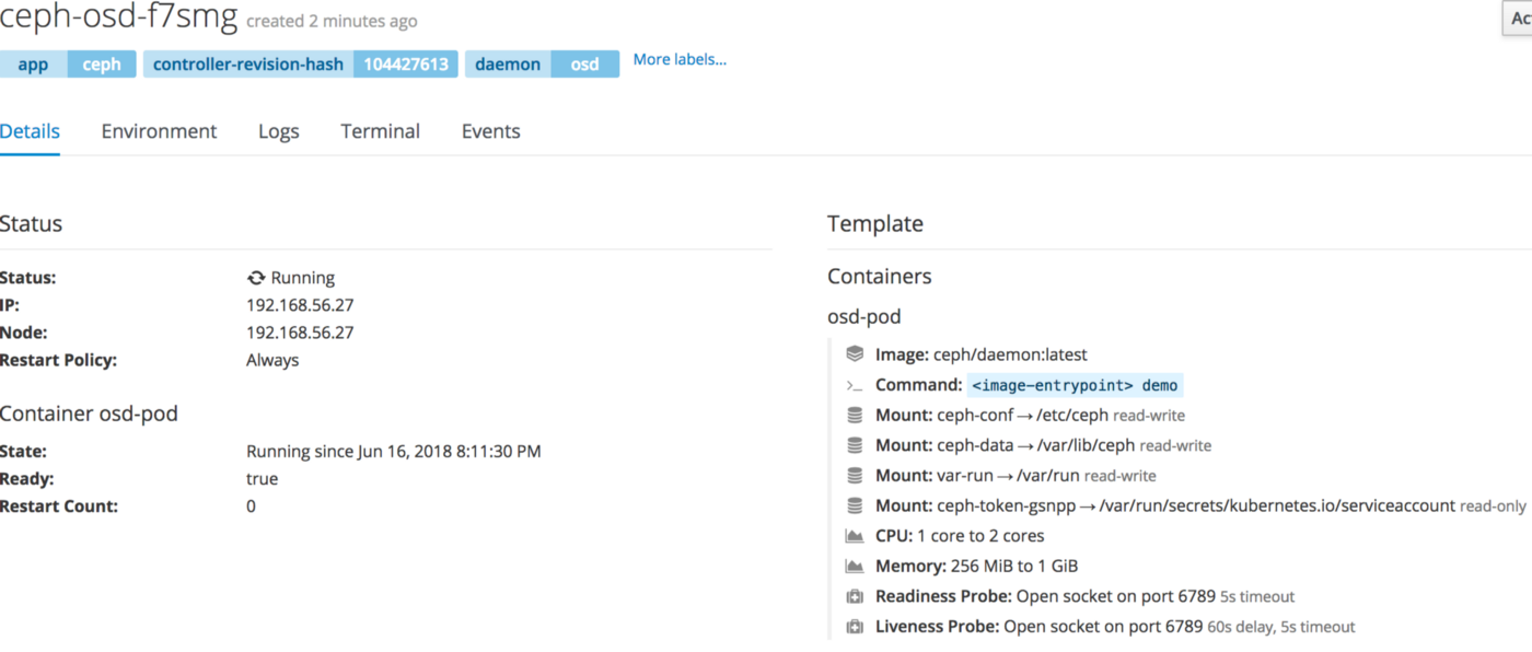 Dynamic persistent volume provisionning with Openshift and the Ceph