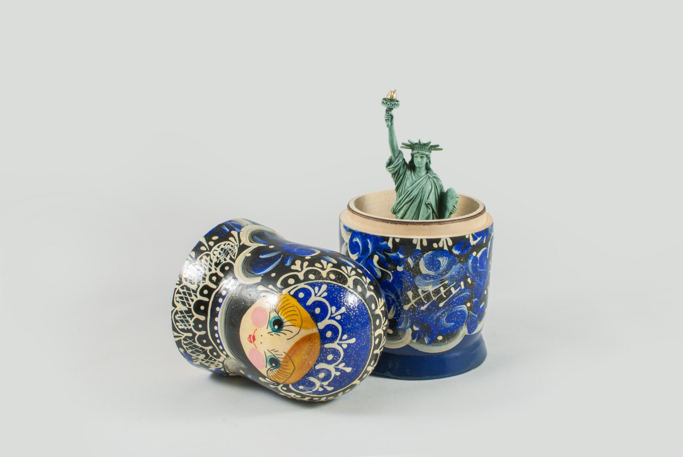 Nesting Doll with Lady Liberty