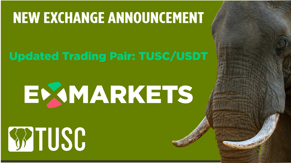 Trading Pairs on ExMarkets has Been Updated from BTC to USDT. #TUSC