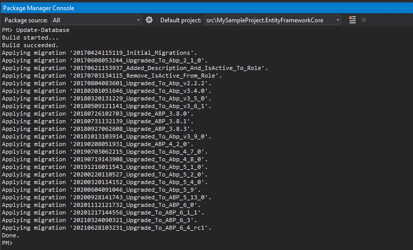 Package Manager Console migration