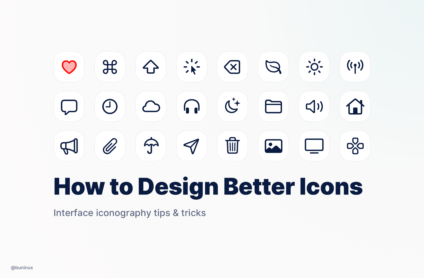 How to design icons