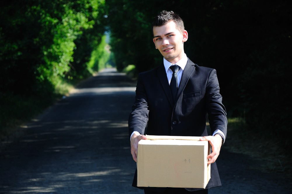A man delivering a package