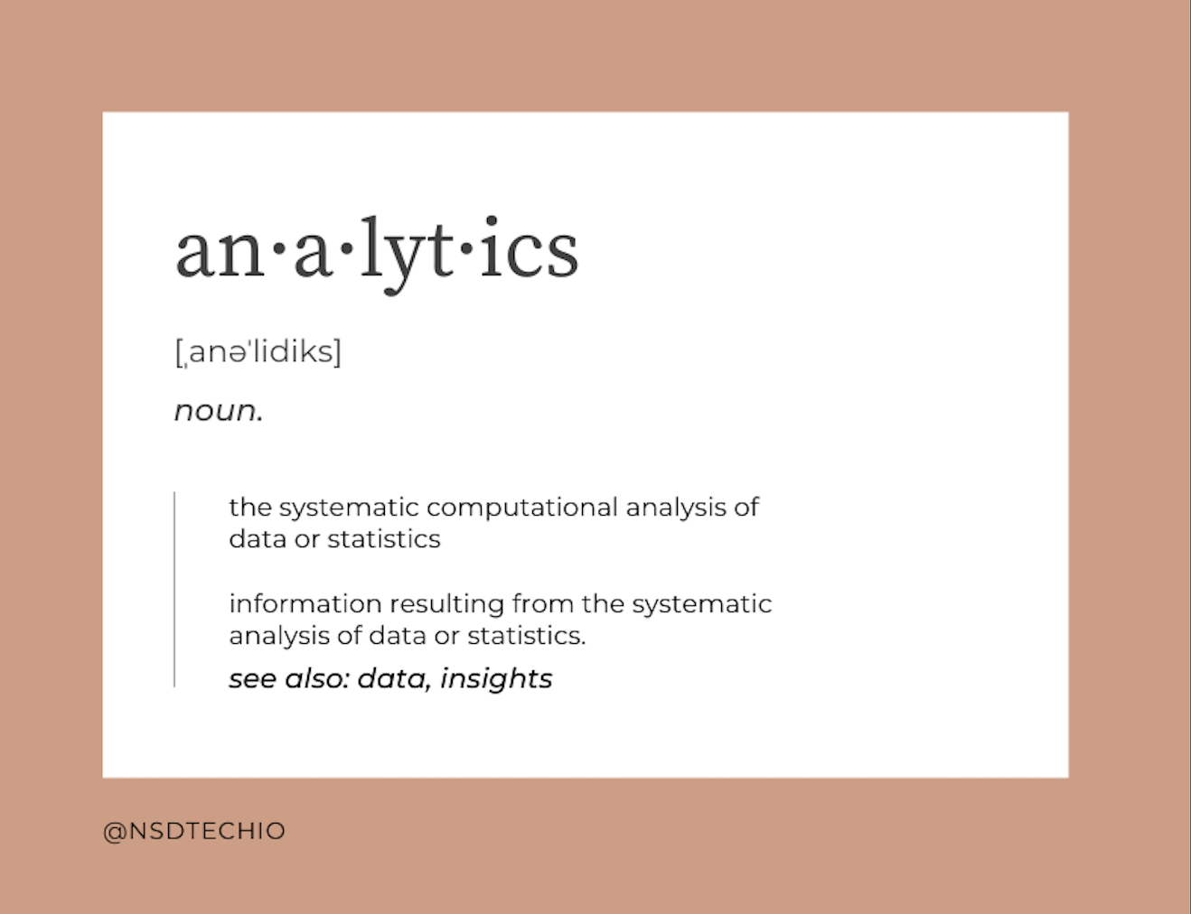 dictionary image of the word analytics