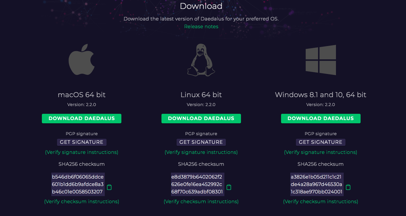 How to Download a Daedalus Wallet