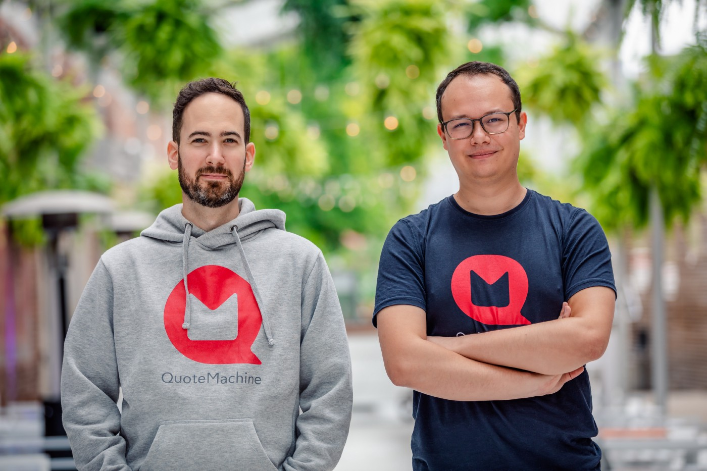 JD Rocheteau and Jonathan Muschalle, cofounder of QuoteMachine Photo credit: Tora Photography