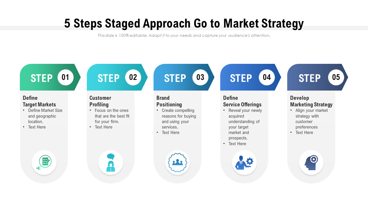 Go to Market Strategy Steps PPT Template
