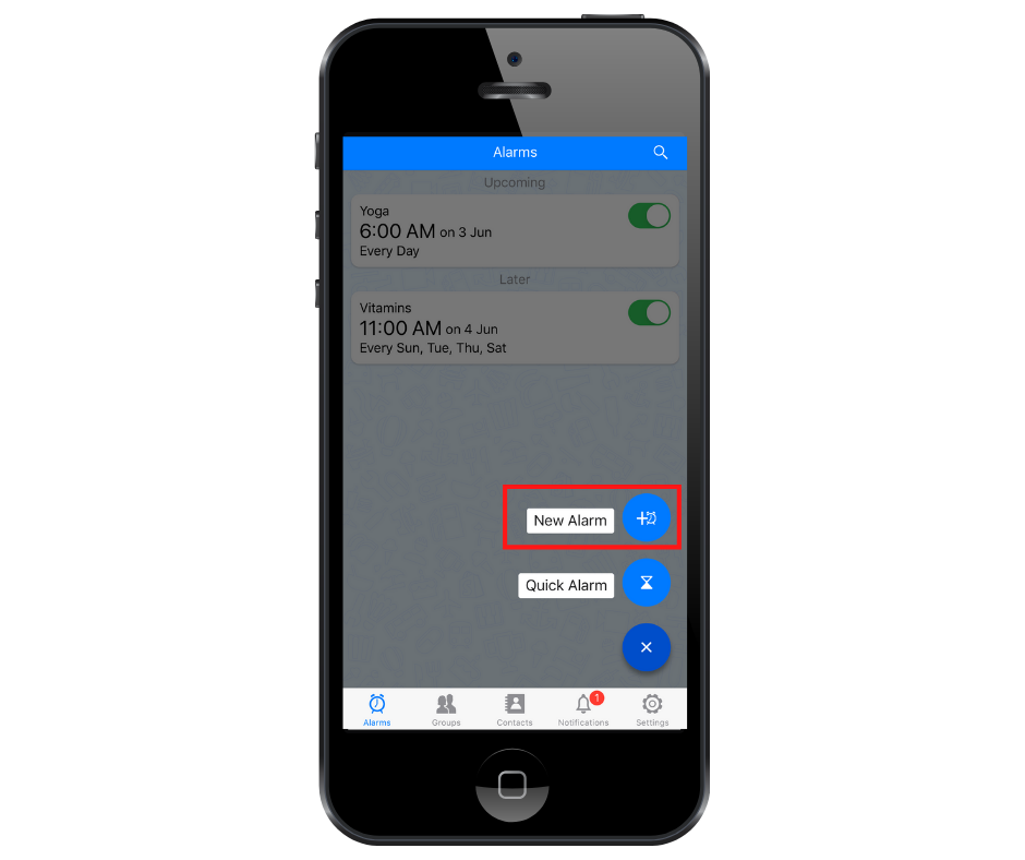 set a new alarm with best reminder app