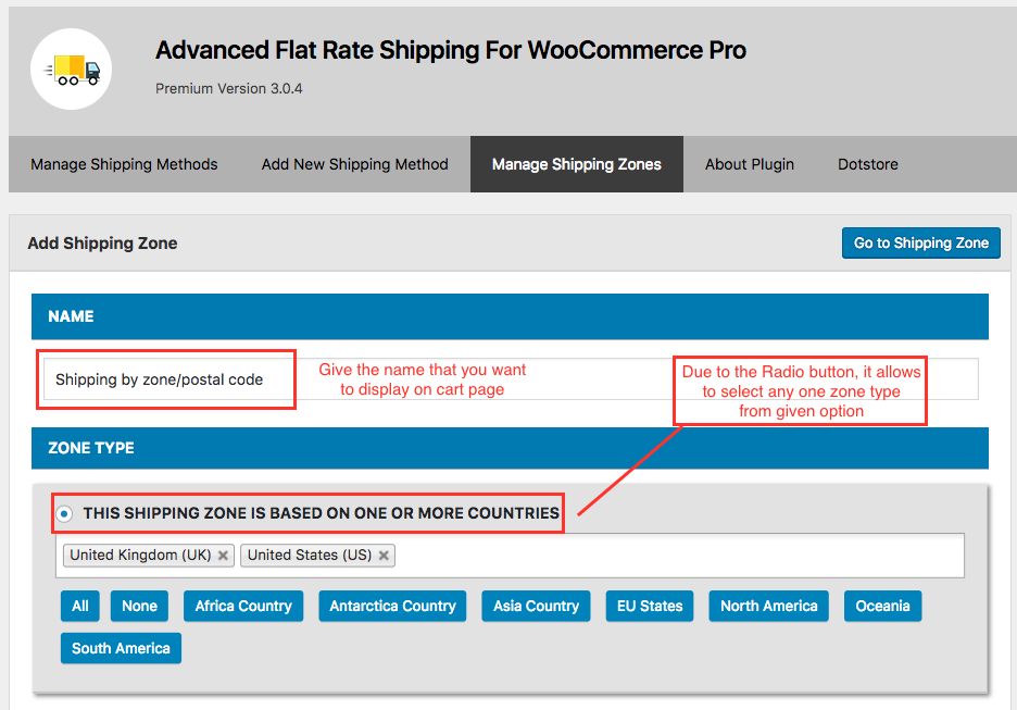 How do i set up advance flat rate shipping method in WooCommerce?
