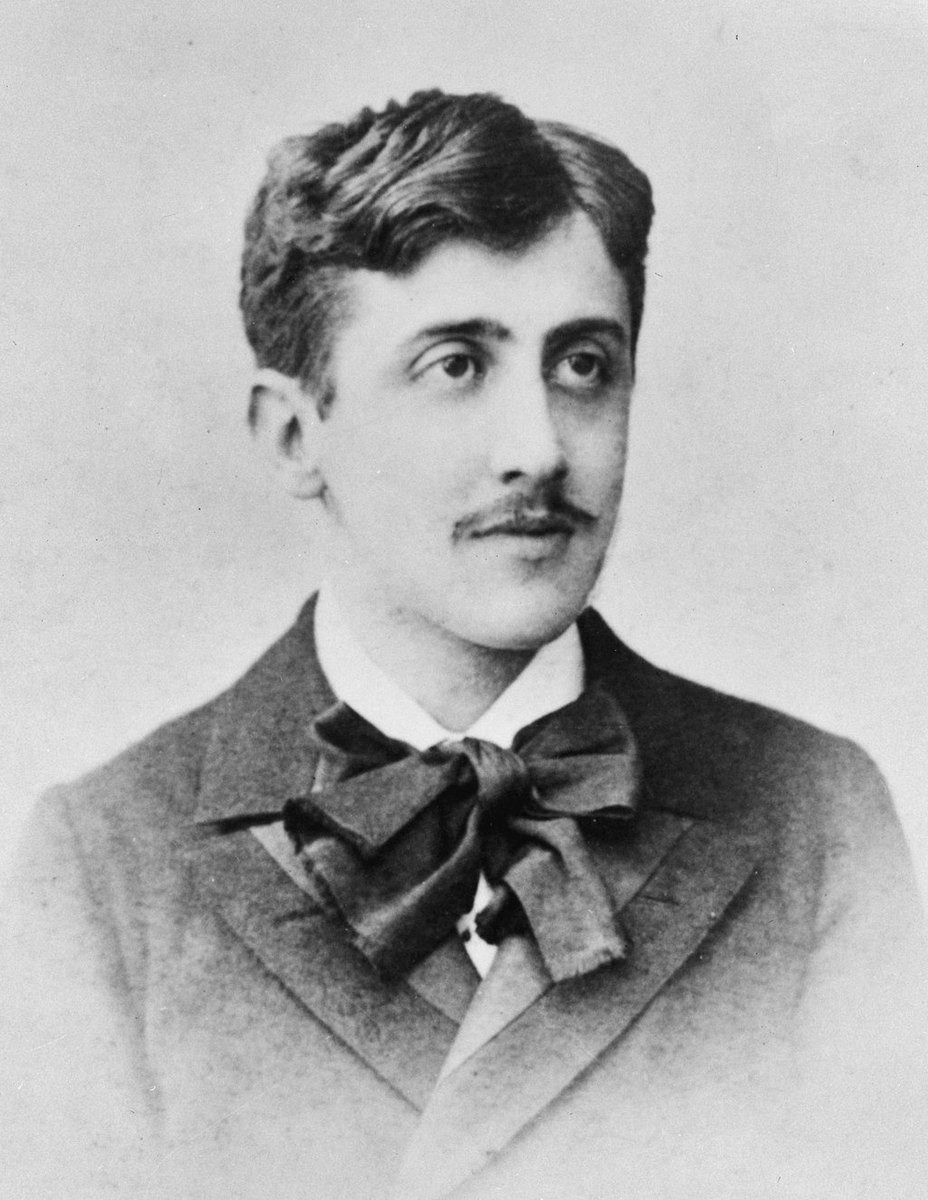 Image: black and white portrait of Marcel Proust as a young man—perhaps 20.