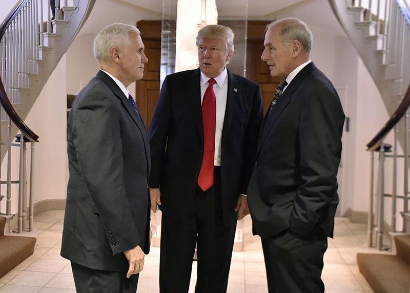 President Trump with John Kelly. From U.S. Department of Homeland Security (DHS) [Public domain]
