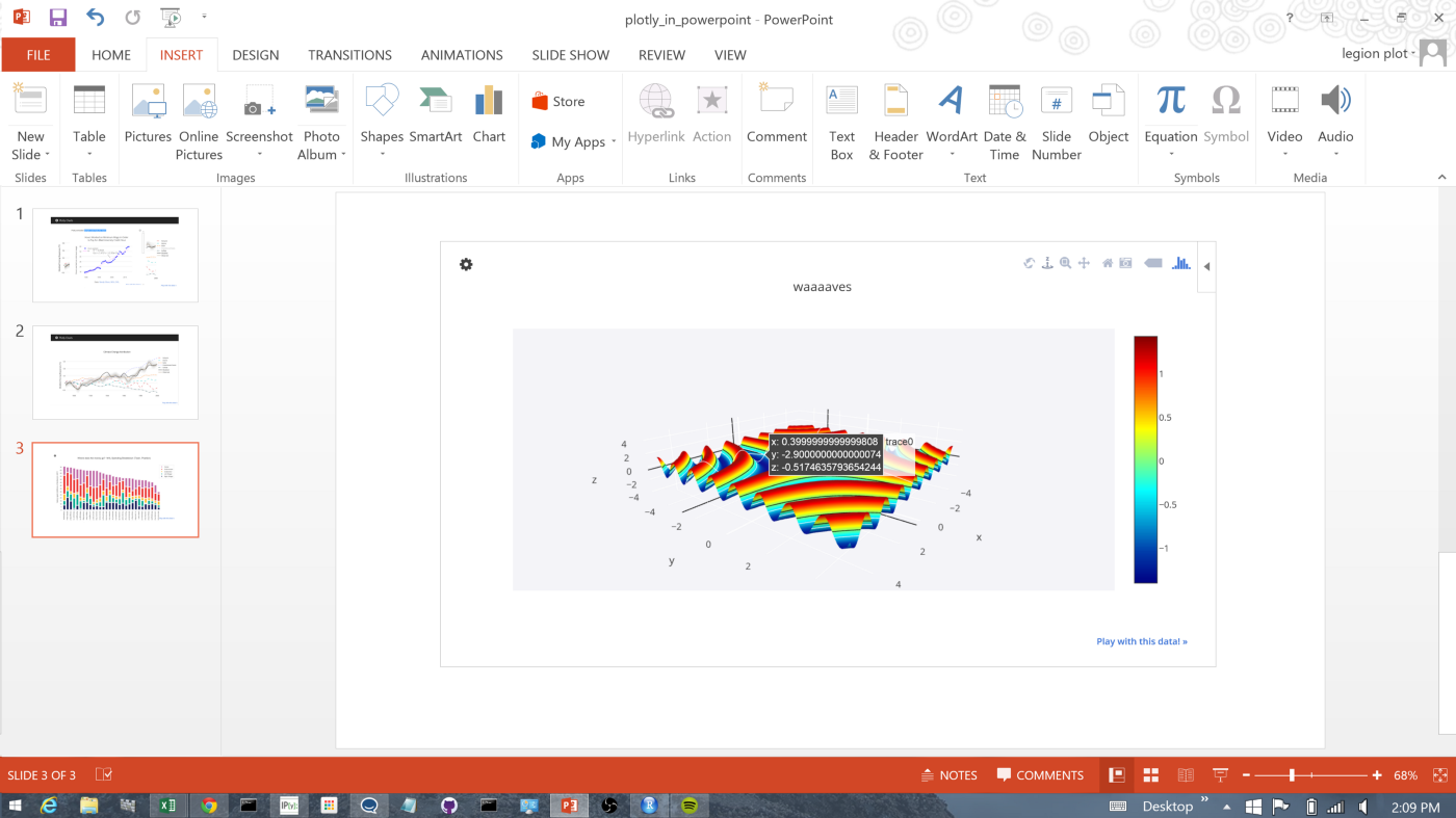 3D Graphing & Maps For Excel, R, Python, & MATLAB: Gender & Jobs, a