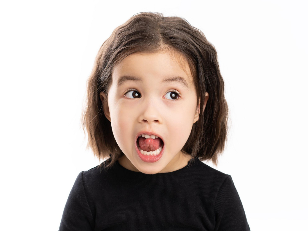 Young girl making a funny face