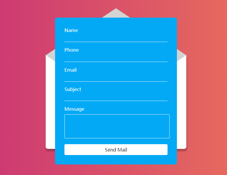 Contact form example image