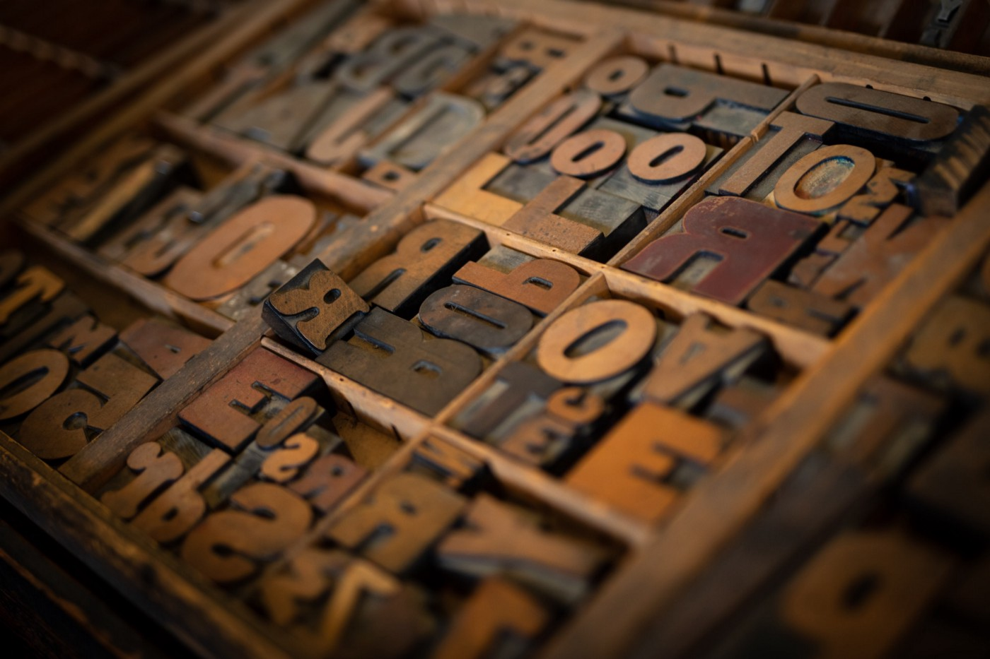 antique letterpress letters