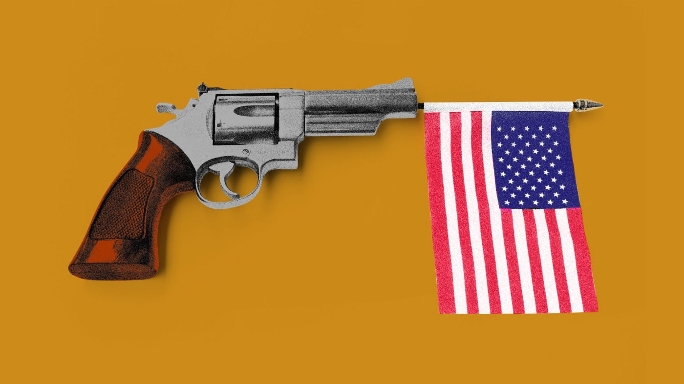 gun with U.S. flag image courtesy of Daily Beast