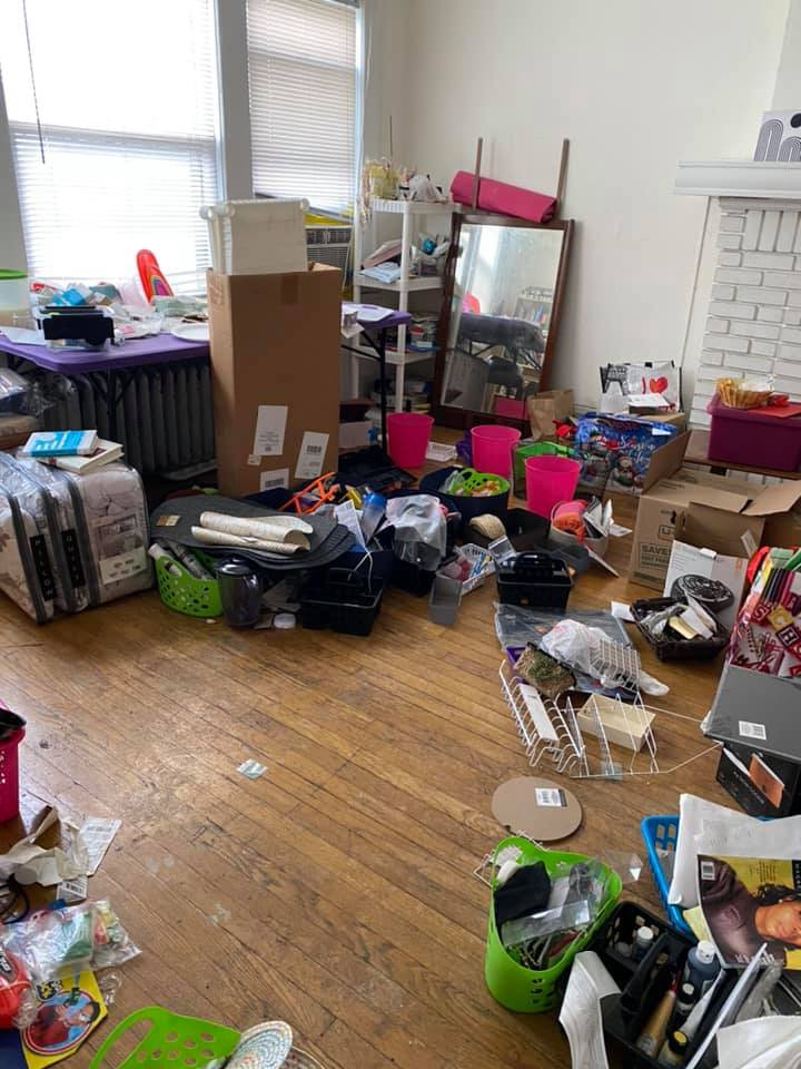 Photo of my messy living room