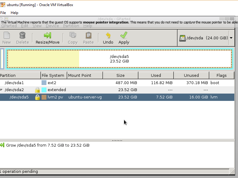 Increasing Virtual Disk Space for a Guest Machine Managed by Oracle