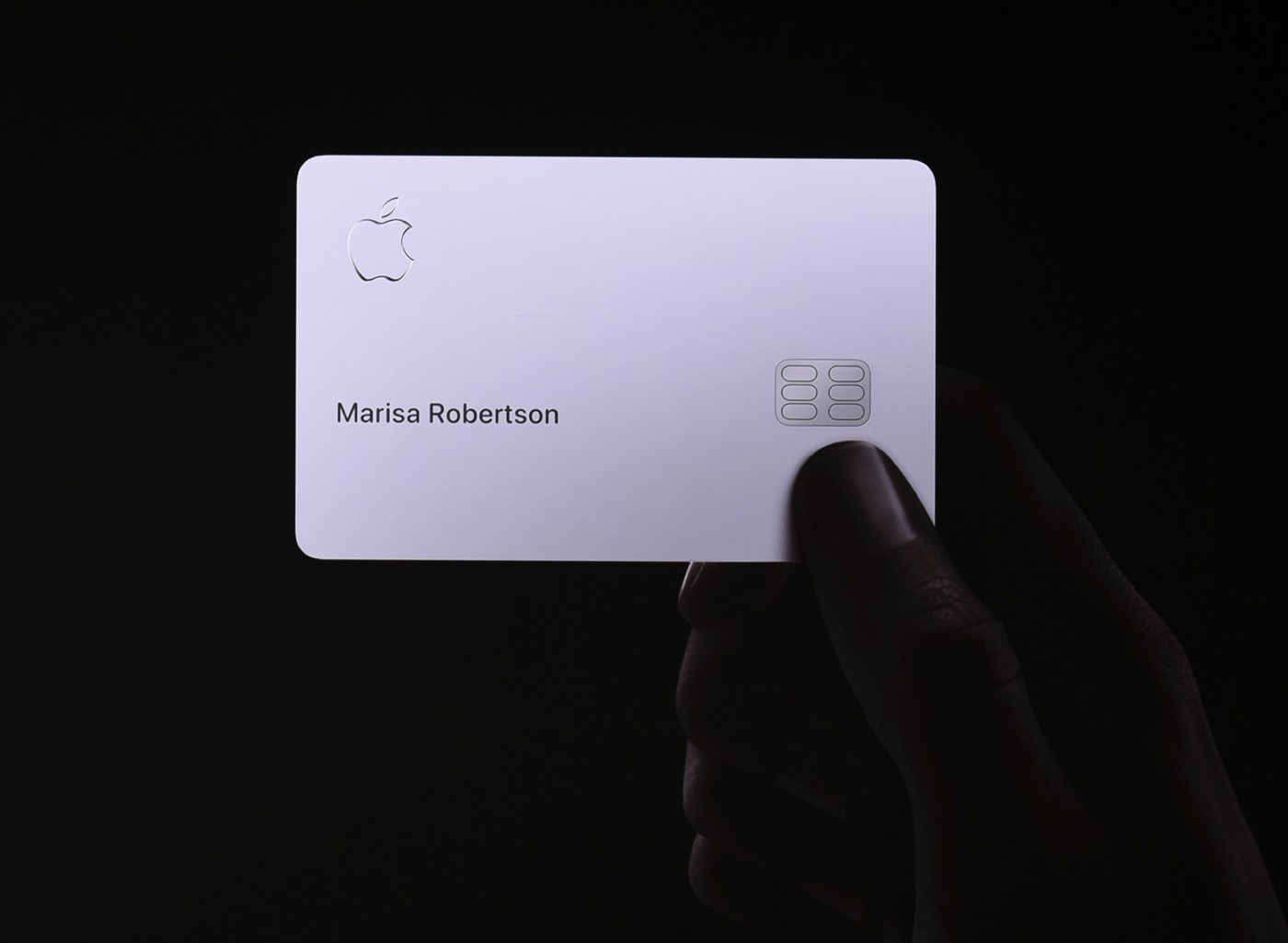 The Apple Card, presented at Apple's product launch event on March 25, 2019.