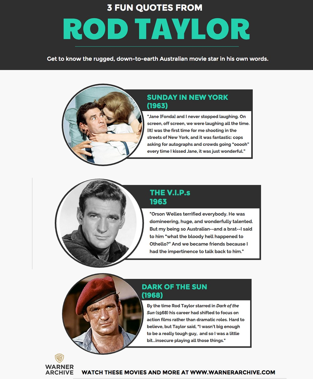 5 Moments That Prove Rod Taylor was Simply  The  Best