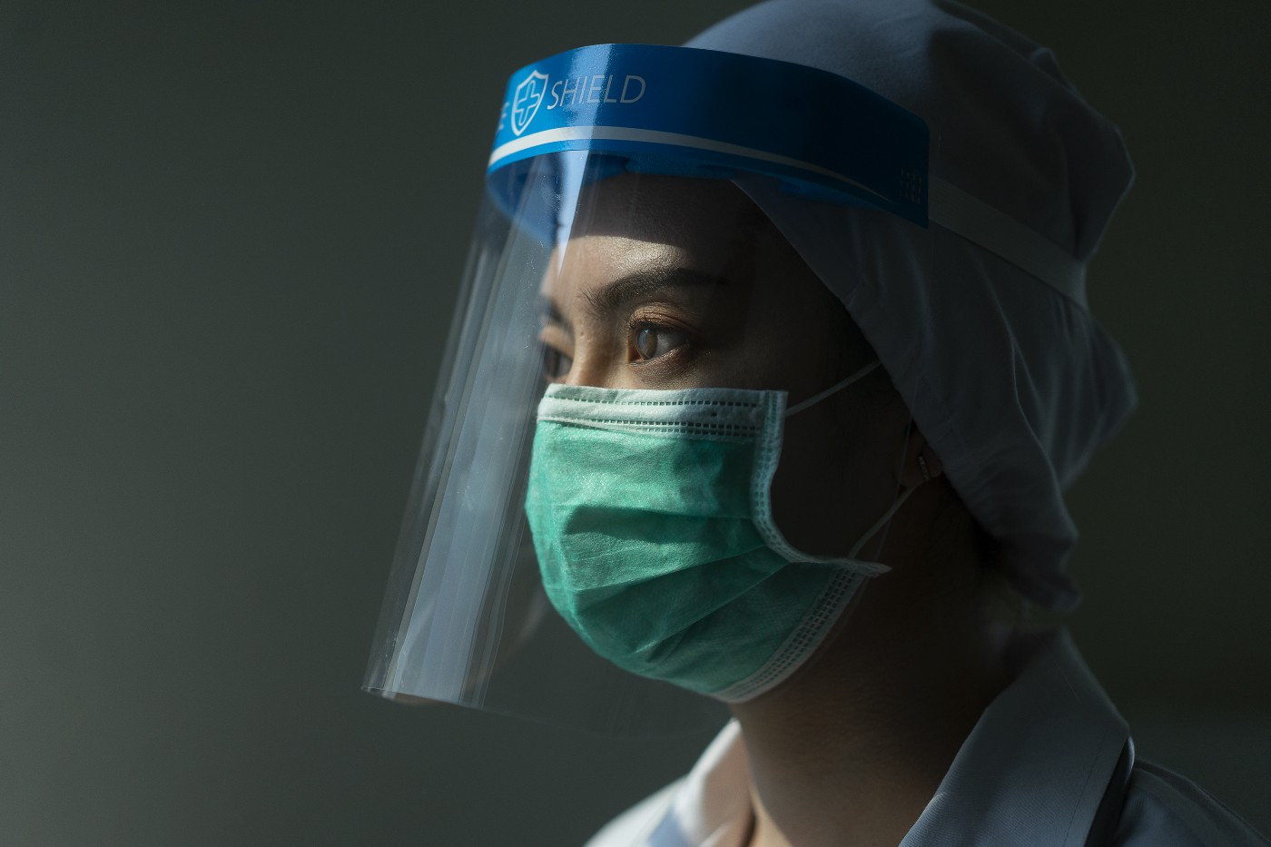 Healthcare worker wearing PPE.