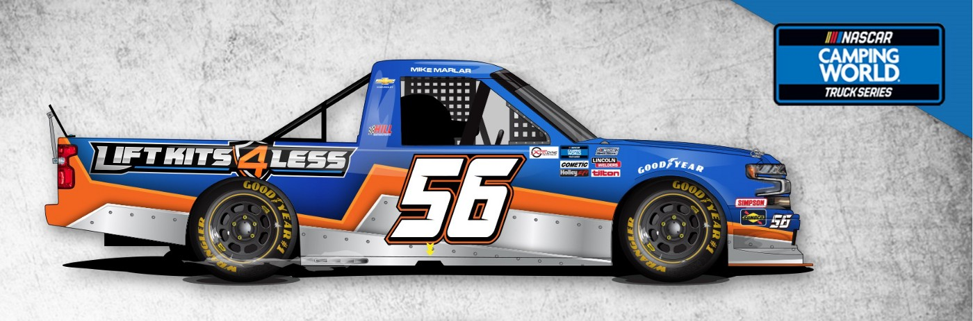 An image showing the #56 NASCAR Racing Truck for Camping Motors