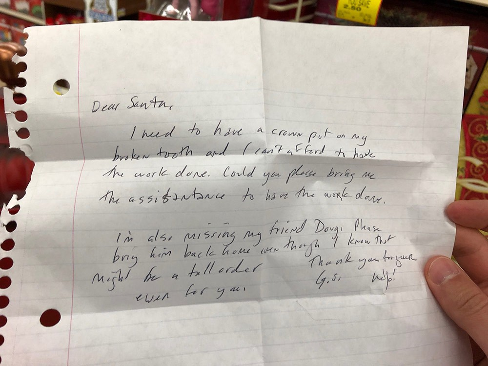 Adult letters to santa
