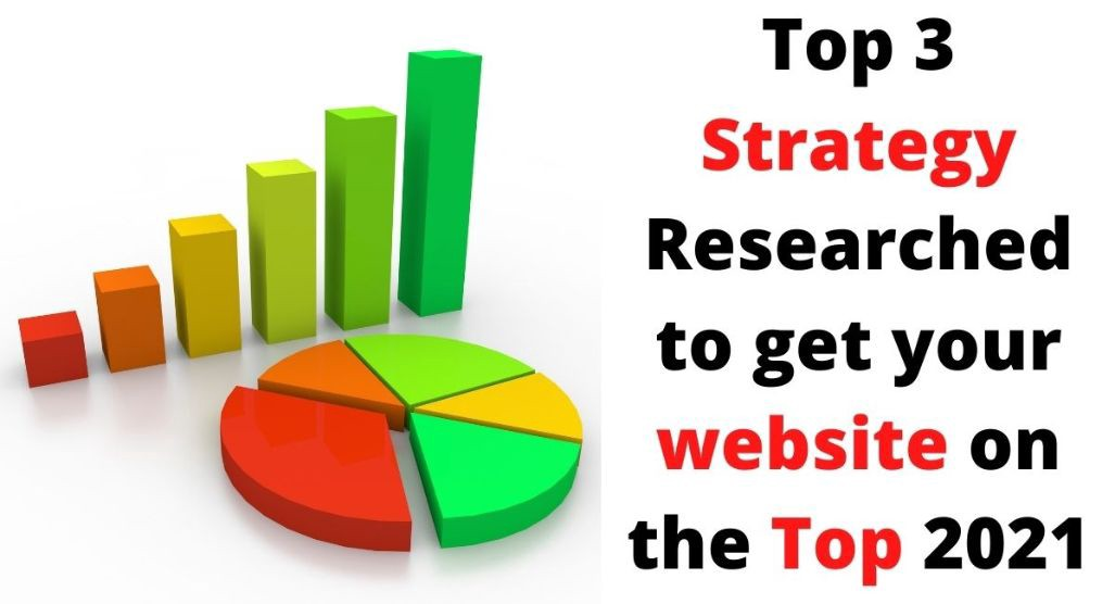 Top 3 Strategy researched to get your website on the Top 2021