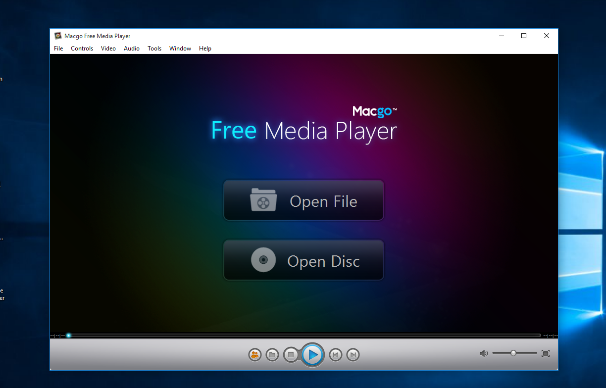 Macgo Free Media Player Provide DVD Support on Windows 10