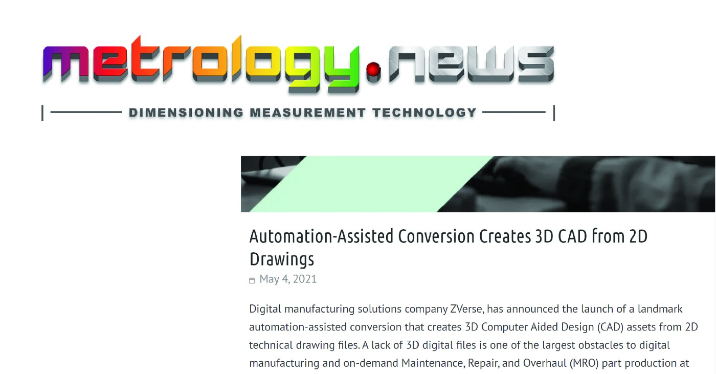 Automation-Assisted Conversion Creates 3D CAD from 2D Drawings
