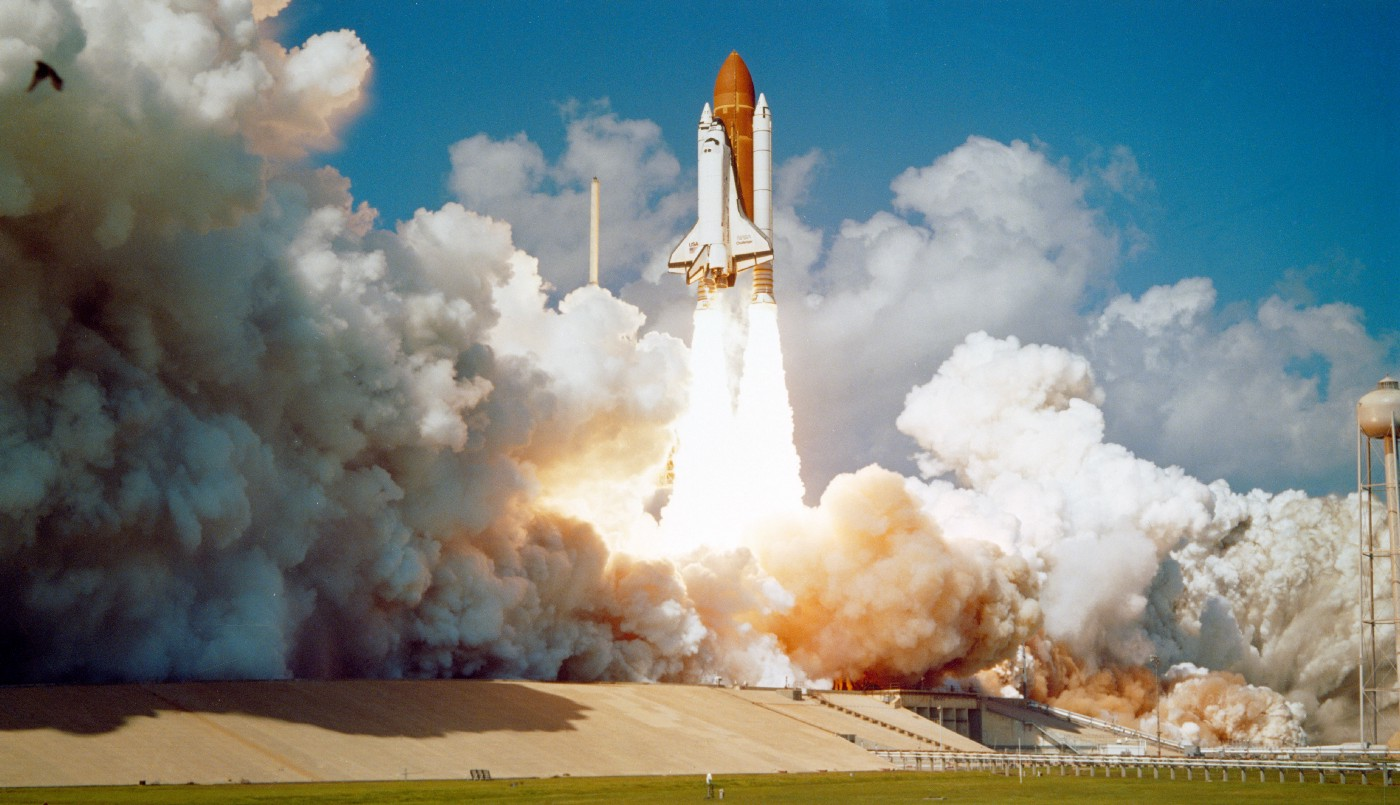 NASA rocket being launched
