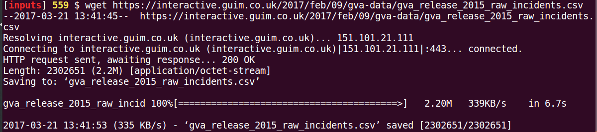 Gun Violence: Using Perl to Analyze Publicly Available Data