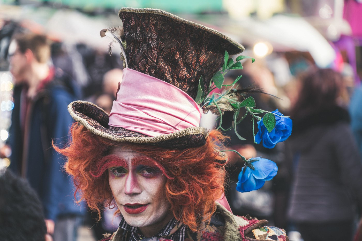 The Mad Hatter in a street parade