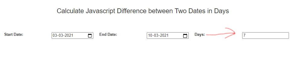 How To Calculate Javascript Difference Between Two Dates In Days