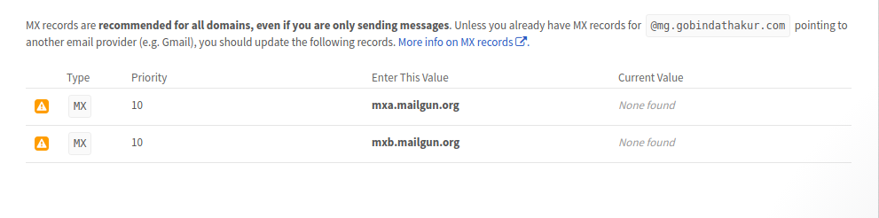 Send email from your Node js application by using MailGun API services