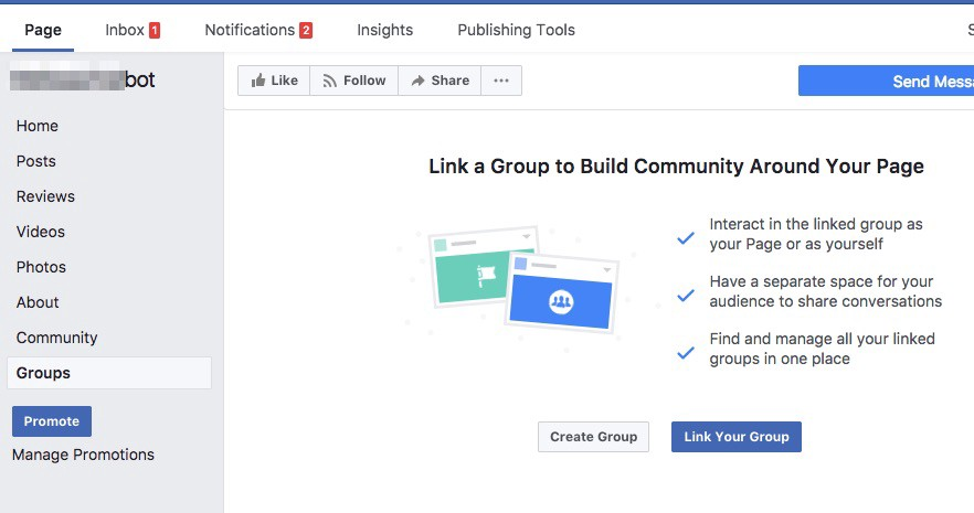 How I Added A Facebook Page As An Admin In My Group and Created