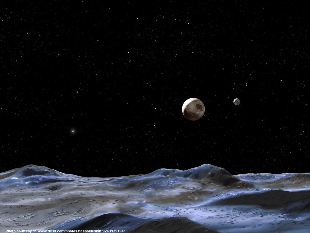 The planet Pluto seen from space