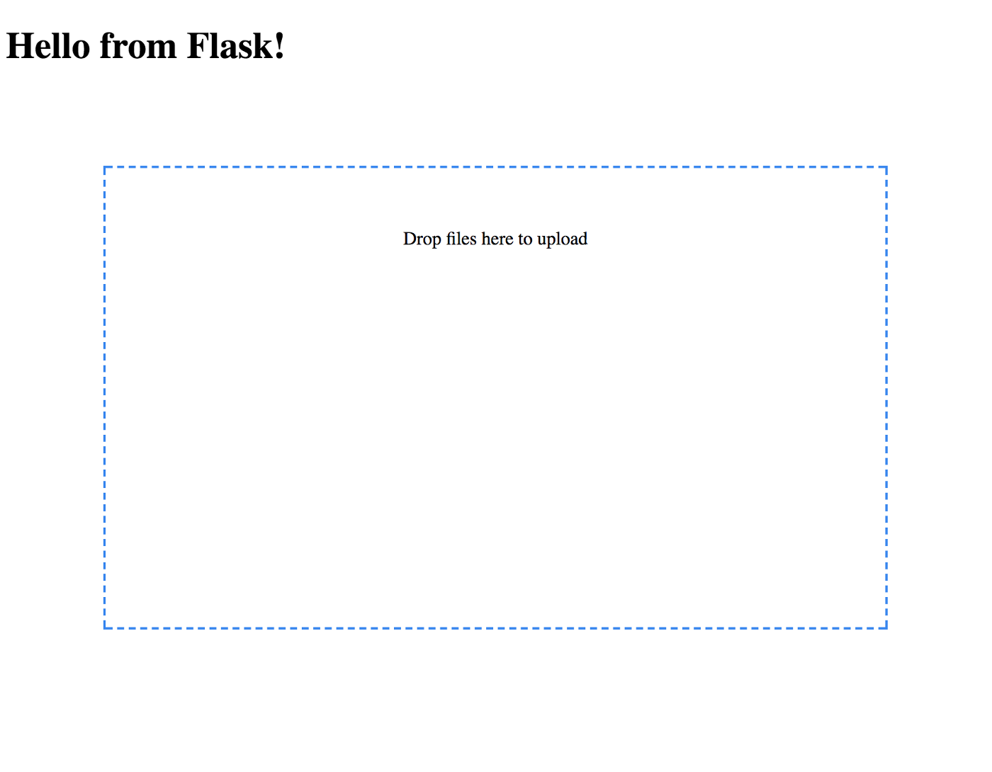 Upload multiple images with Python, Flask and Flask-Dropzone