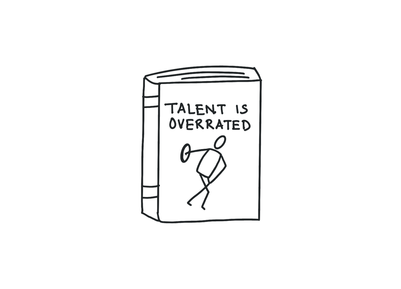 An illustration of the book, Talent is Overrated