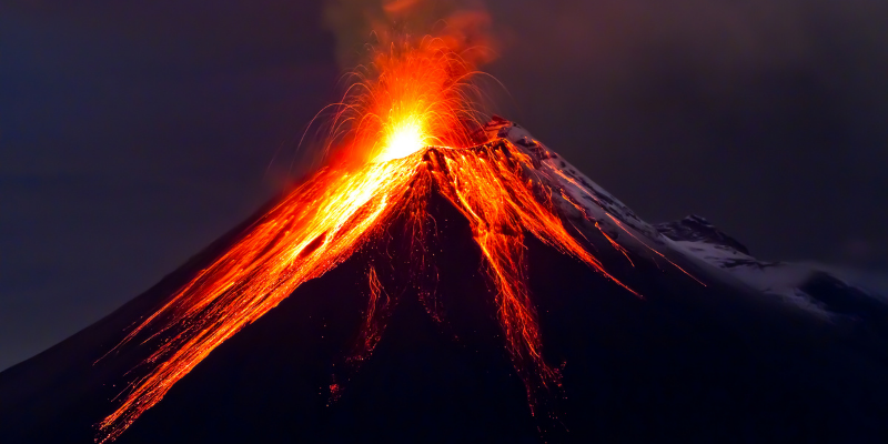 Lava coming out of a volcano — The 7 Craziest Places People Have Actually Had Sex