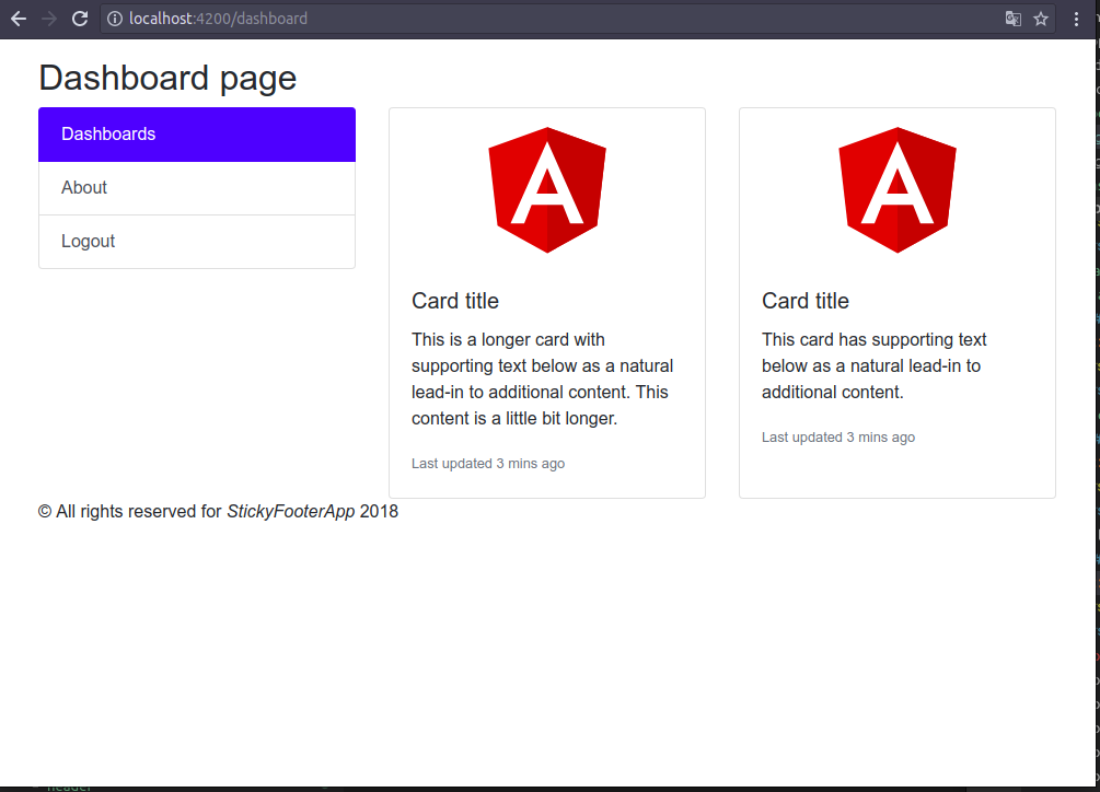 Pure Bootstrap sticky footer with flex and Angular - Jose I Santa