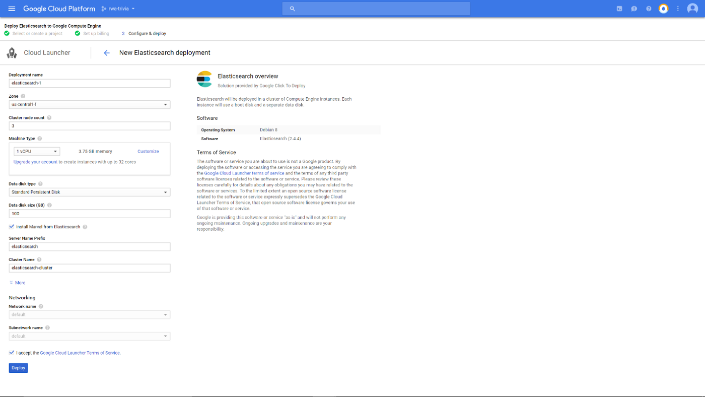 Real World App - Part 13: Elasticsearch on Google Cloud with