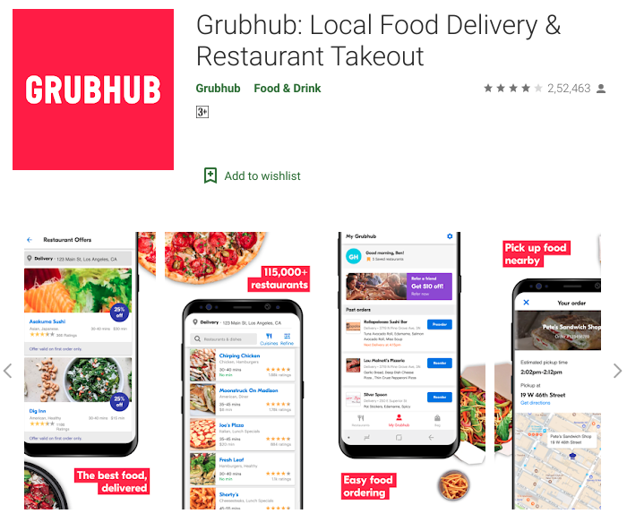 Best Example of Top 5 Food Delivery Apps In USA - Acquaint